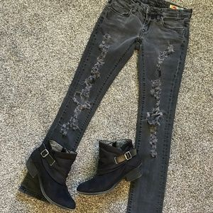Blank NYC Black Distressed Skinny Jeans